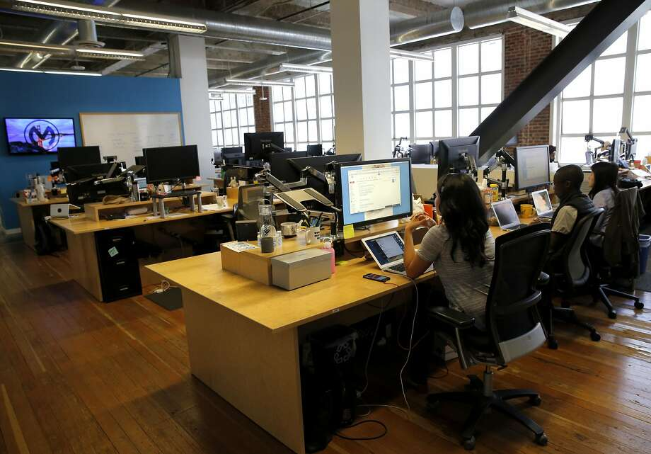Workers in the MuleSoft offices in San Francisco, California, on Tuesday, June 30, 2015. Photo: Connor Radnovich, The Chronicle