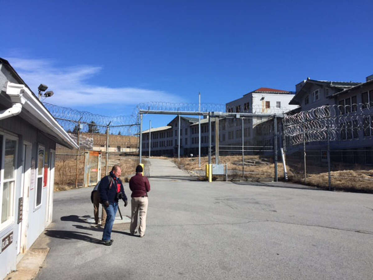 The shuttered Mt. McGregor prison is locked and surrounded by barbed wire on Friday, March, 3, 2017. (Rick Karlin/Times Union)