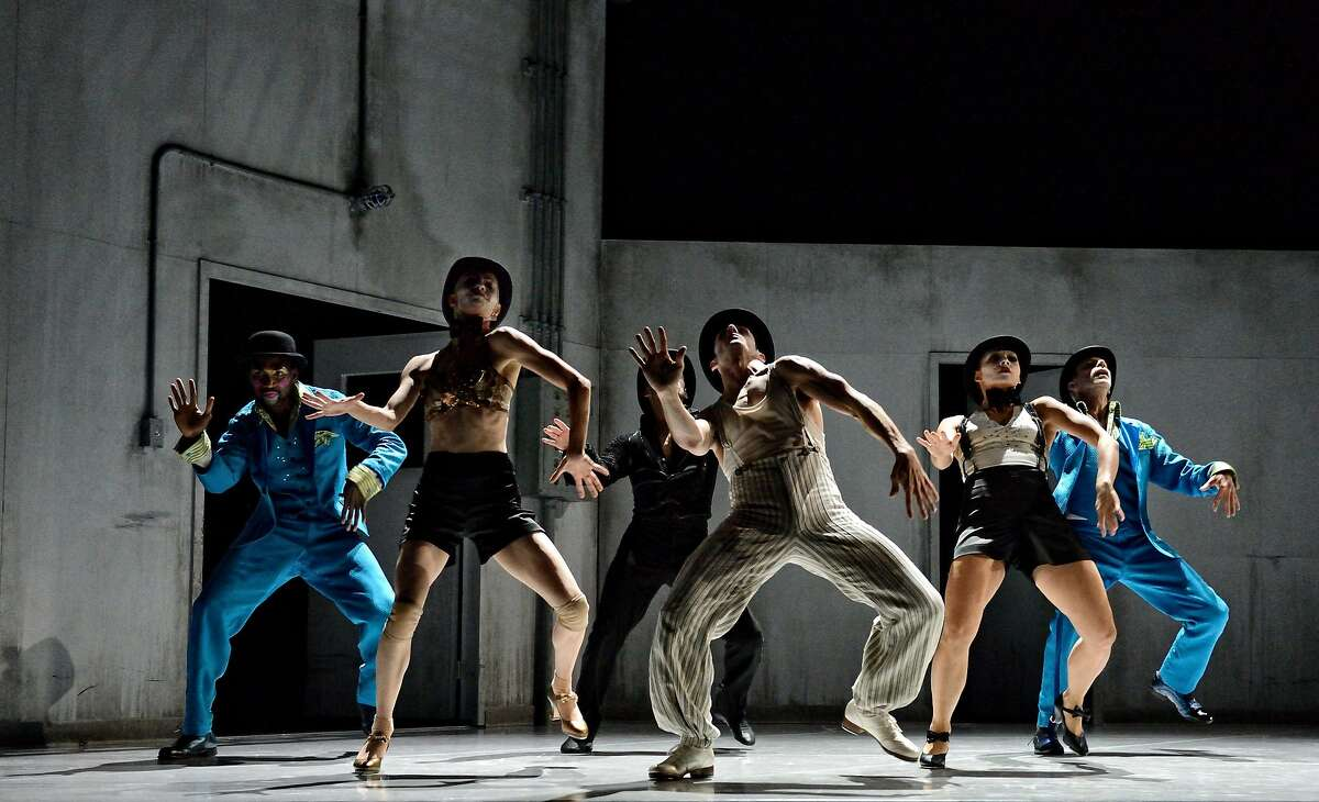 Members of Kidd Pivot Dance Company and the Electric Theatre Company in the dance-theater work