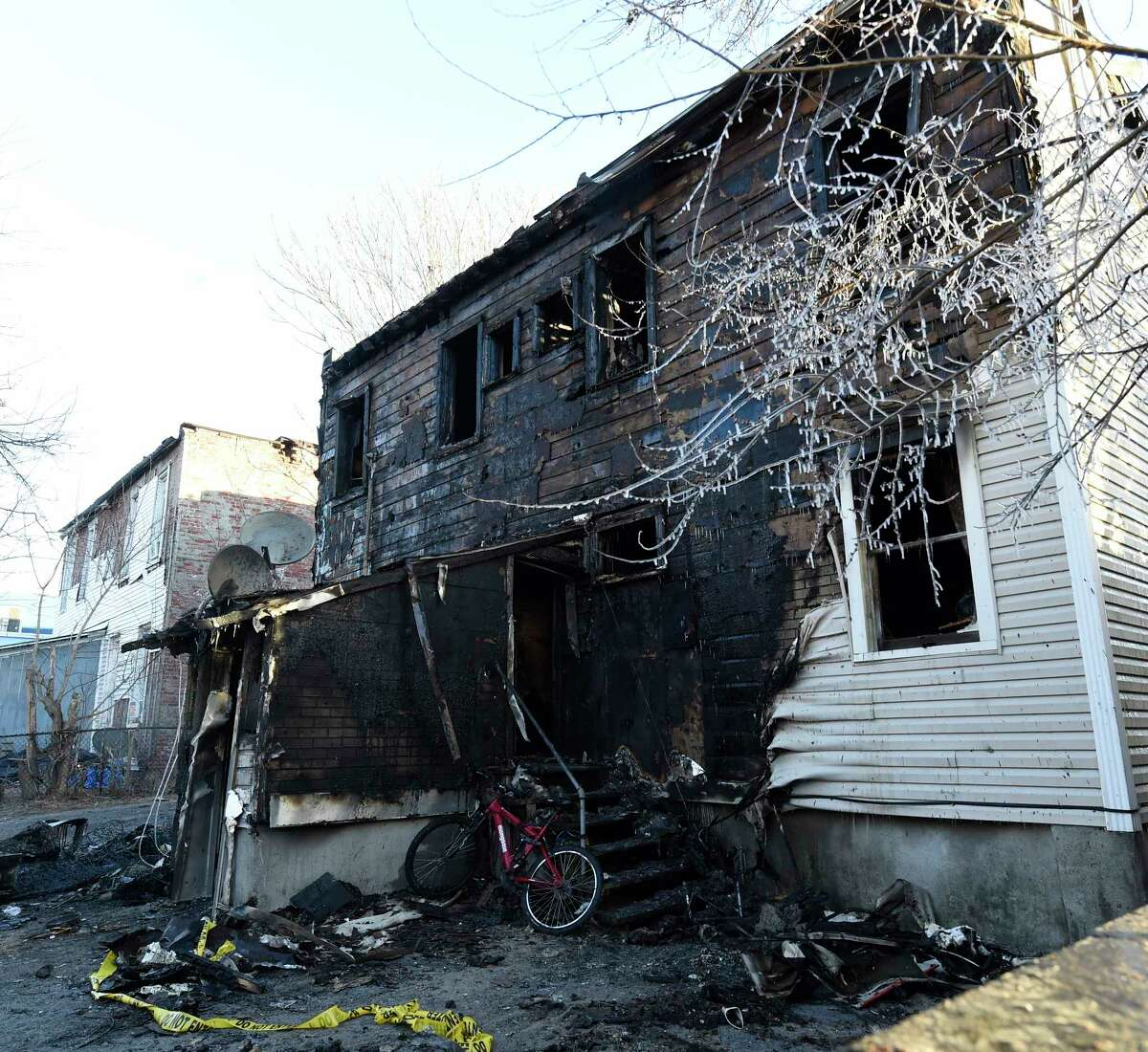 New York State Fire and Town of Colonie Fire Services are investigating after a fire destroyed the dwelling at 1366 Central Avenue Friday Mar. 4, 2017 in Colonie, N.Y. (Skip Dickstein/Times Union)