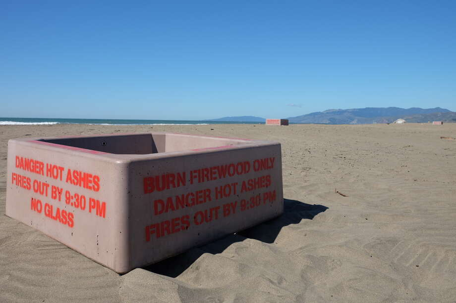 The National Park Service opened Ocean Beach to bonfires on March 1 after adding new fire rings and regulations. Photo: Golden Gate National Recreation Area Flickr