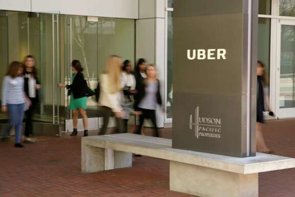 "This  Wednesday, March 1, 2017, photo shows an exterior view of the headquarters of Uber in San Francisco. Uber has been wielding a secret weapon to thwart authorities who have been trying to curtail or shut down its ride-hailing service in cities around the world.  The program included a feature nicknamed ""Greyball"" internally that identified regulators who were posing as riders while trying to collect evidence that Uber's service was breaking local laws governing taxis. The New York Times revealed Greyball's existence in a story published Friday, March 3, 2017, based on information provided by four current and former Uber employees. (AP Photo/Eric Risberg)"