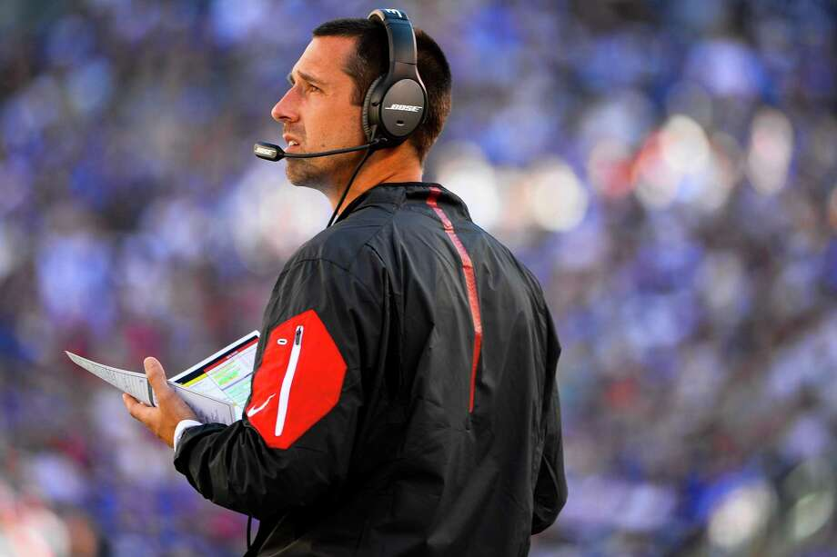 Kyle Shanahan will seek to restore his and the 49ers' fortunes after suffering a historic defeat with the Falcons. Photo: Alex Goodlett / Alex Goodlett / Getty Images 2015 / 2015 Getty Images