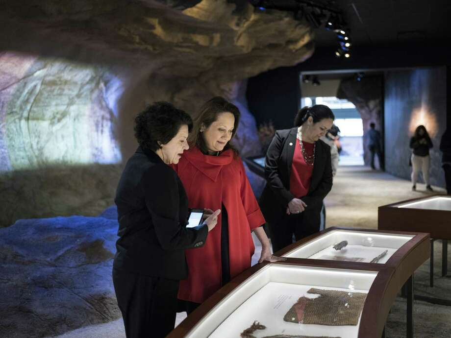 Texas First Lady Cecilia Abbott, second left, receives a tour from President and CEO of the Witte Museum Marise McDermott, left, at the opening of the renovated Witte Museum on Broadway street near Brackenridge Park in San Antonio, Texas on Saturday, March 4, 2017. The WItte has now completed a major renovation of more than 174,000 square feet of space with new galleries and exhibit space. Photo: Matthew Busch, For The San Antonio Express-News / For The San Antonio Express-News / © Matthew Busch