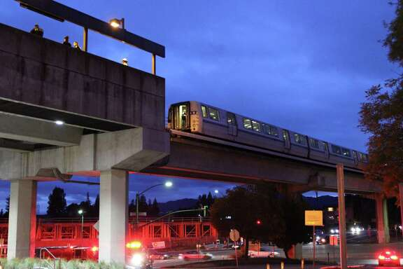 The Walnut Creek BART Station was evacuated after a fire started just beyond the platform in an electrical equipment vault.