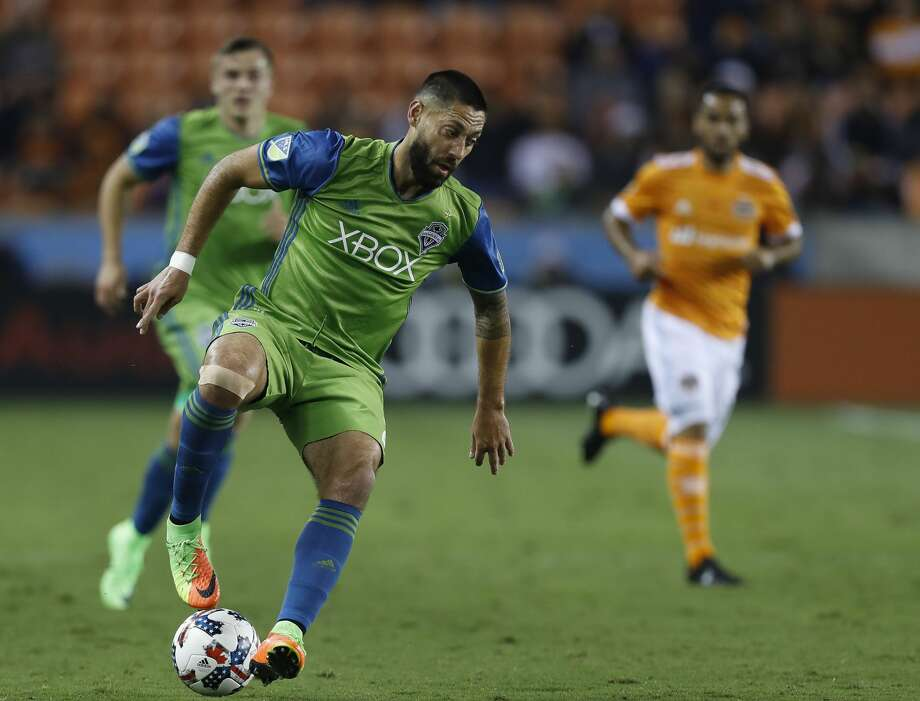 Seattle Sounders midfielder Clint Dempsey (2) during the first half of the season opening MLS soccer game at BBVA Compass stadium, Saturday, March 4, 2017, in Houston.  ( Karen Warren / Houston Chronicle ) Photo: Karen Warren/Houston Chronicle