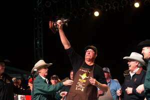 Winners are announced during the World's Championship Bar-B-Que Cookoff on Saturday, March 4, 2017, at the Houston Livestock Show and Rodeo. (Annie Mulligan / Freelance)