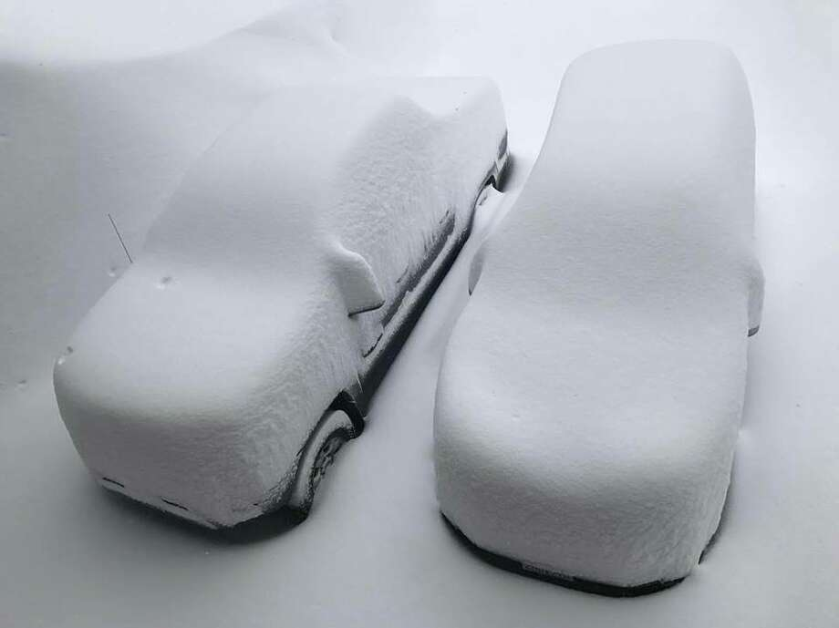 Click through this gallery to see some of the craziest snow photos of Tahoe's epic 2017 season.Two cars covered in snow at Tahoe-Donner after storm hits northern Sierra Nevada on March 5, 2017. Photo: Wayne Mckenzie