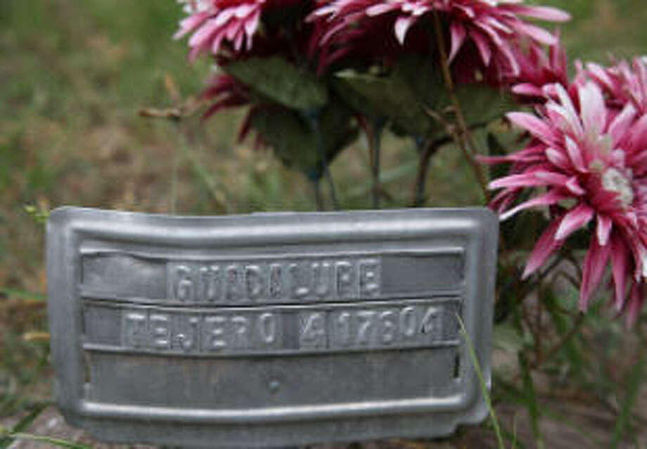 A volunteer group is working at Sacred Heart Cemetery in Falfurrias, Texas, near the Mexican border, to identify migrants who died crossing the border, but left no identification or name behind.>>>Scroll through the gallery to see more images from Sacred Heart Cemetery in Brooks County Photo: South Texas Human Rights Center