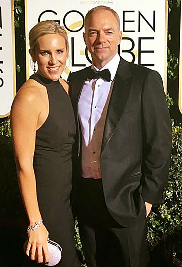"Producer David Greathouse, who is a former Alvin Community College student, and his wife Michelle pose on the red carpet at this year's Golden Globes ceremony. He is executive producer for ""Hacksaw Ridge,"" which earned two Oscars out of six nominations."