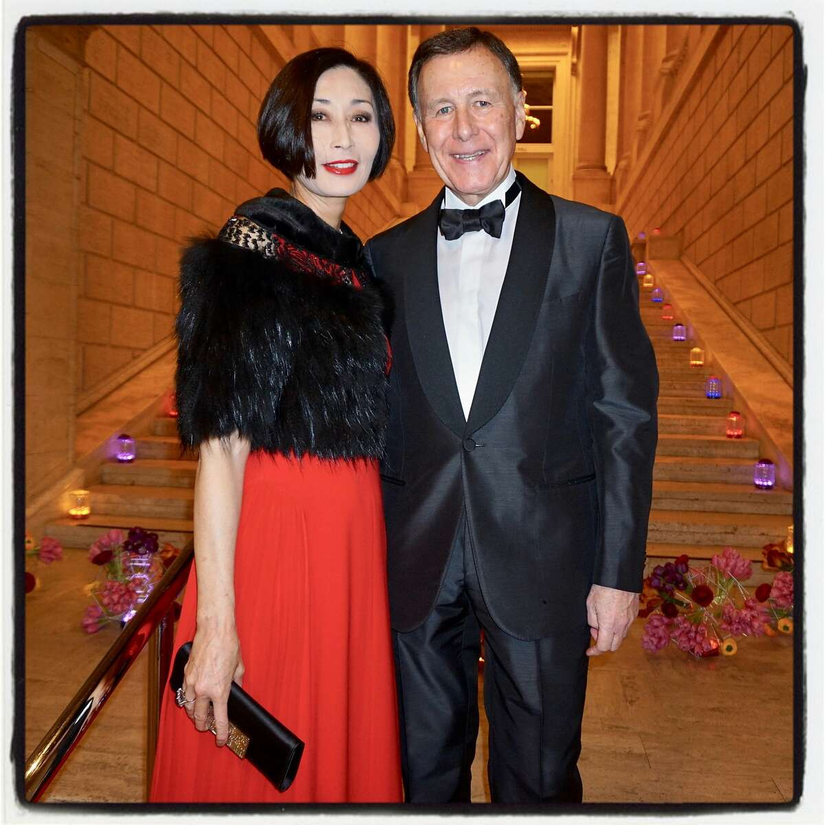 Yurie and Carl Pascarella at the Asian Art Museum gala. March 2, 2017.