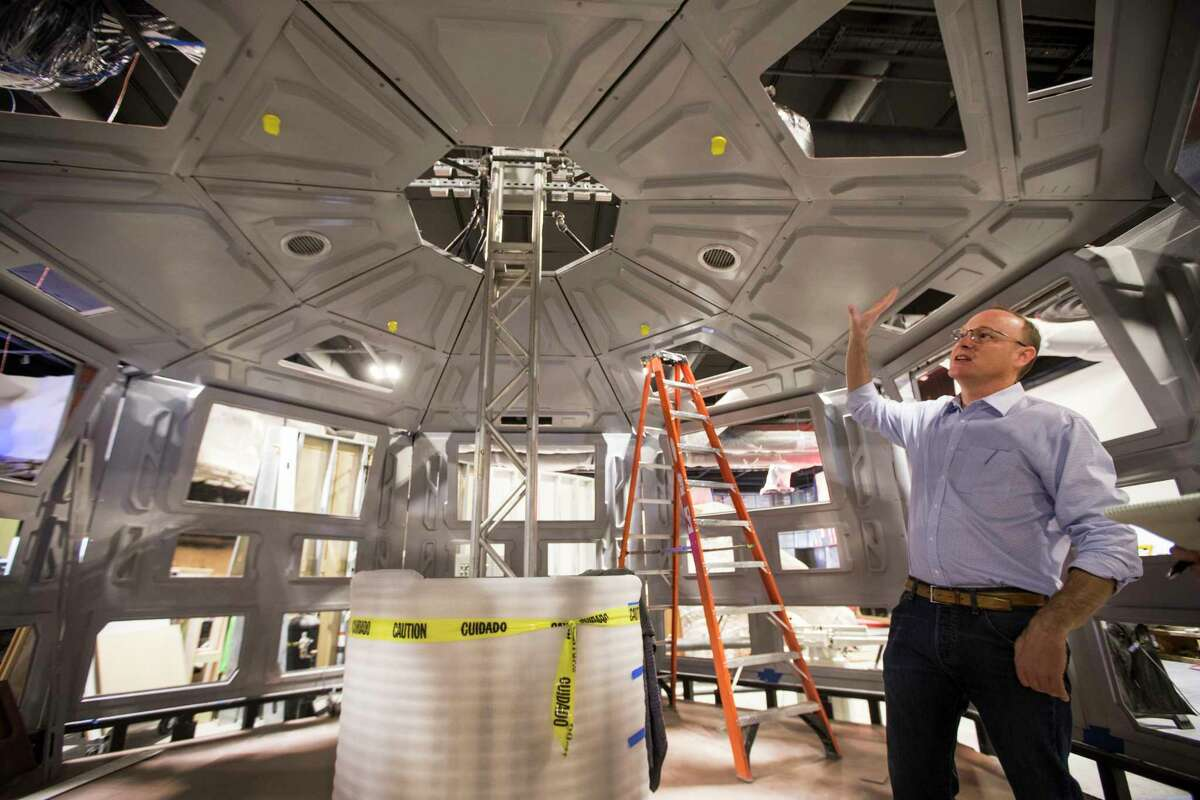 """Jeff Poss, vice president of exhibits and facilities for the Houston Museum of Natural Science, says renewable energy technologies will be """"front and center"""" in the renovated hall."""