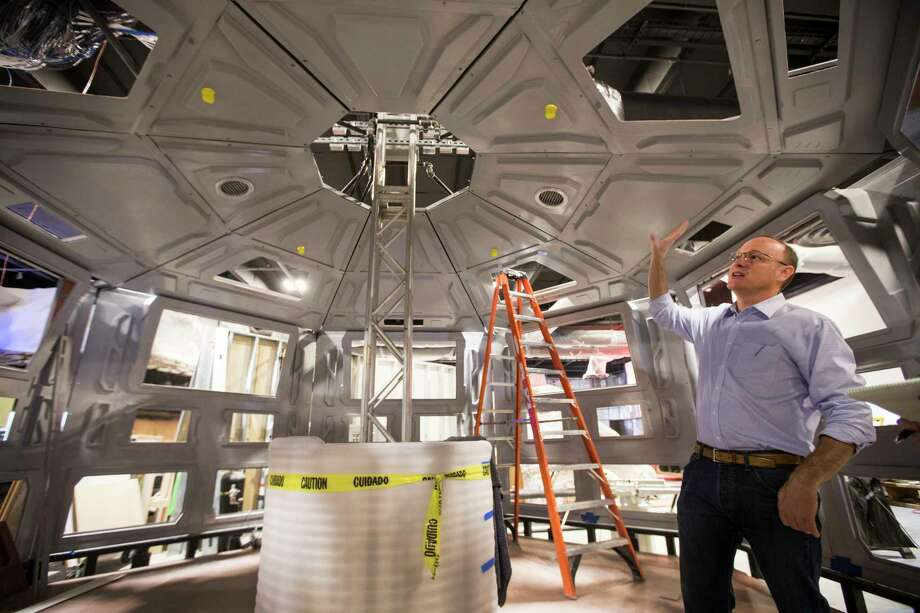 """Jeff Poss, vice president of exhibits and facilities for the Houston Museum of Natural Science, says renewable energy technologies will be """"front and center"""" in the renovated hall. Photo: Brett Coomer, Staff / © 2017 Houston Chronicle"""