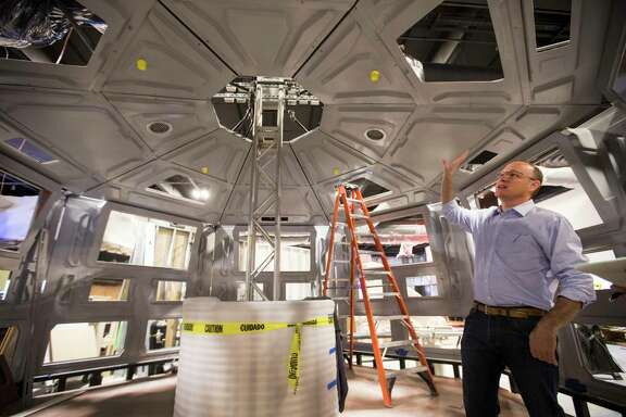 """Above: Jeff Poss, vice president of exhibits and facilities for the Houston Museum of Natural Science, says renewable energy technologies will be """"front and center"""" in the renovated hall."""
