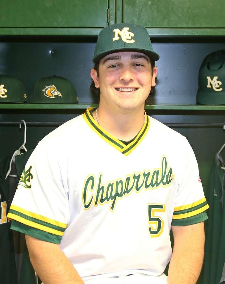 Midland College baseball player Braden Hayward Photo: Forrest Allen