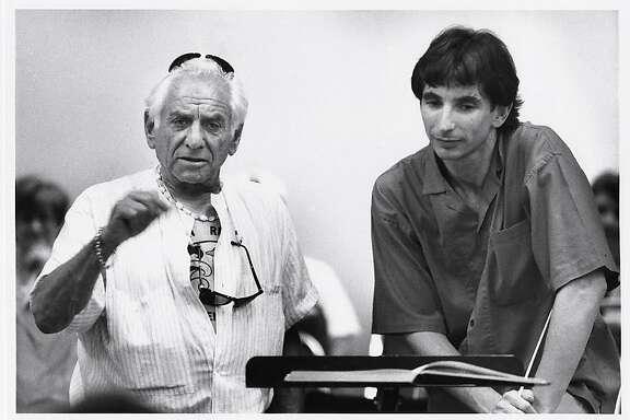 Leonard Bernstein (l.) and Michael Tilson Thomas