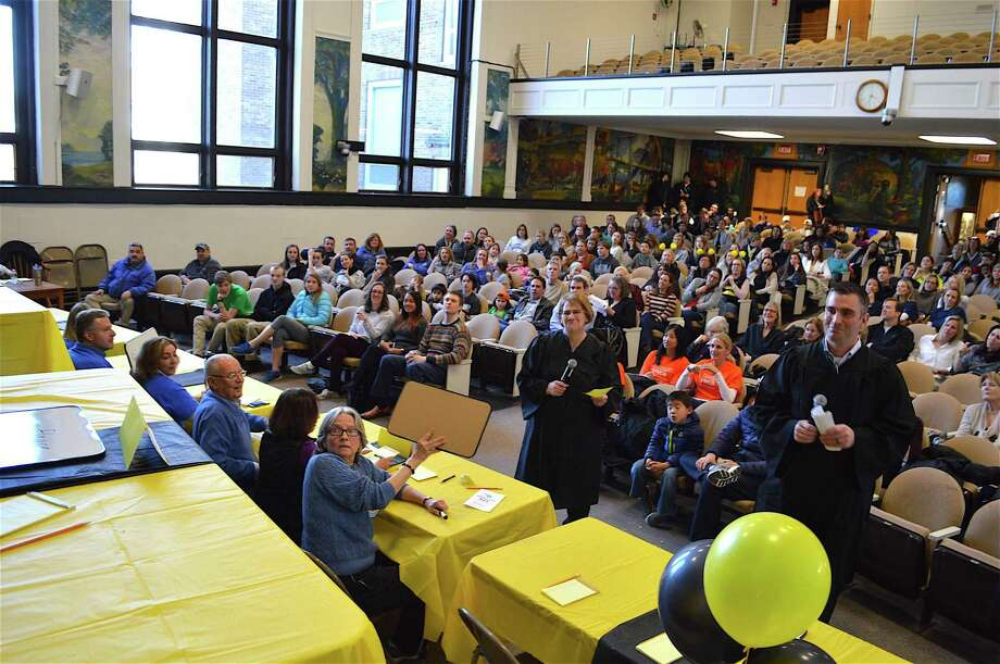 A good crowd showed up for the 8th annual Darien Depot Community Spelling Bee, held at Town Hall, Sunday, Mar. 5, 2017, in Darien, Conn. Photo: Jarret Liotta / For Hearst Connecticut Media / Darien News Freelance