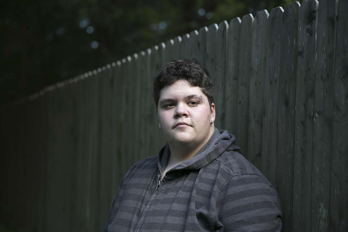 FILE-- Gavin Grimm, 16, who has sued his school district over the right to use the boys� bathroom at his high school, at home in Gloucester, Va., July 24, 2015. The Supreme Court announced March 6, 2017, that it would not hear Grimm�s case on transgender rights after all, acting after the Trump administration changed the federal government�s position on whether public schools had to allow transgender youths to use bathrooms that matched their gender identities. (Damon Winter/ The New York Times)