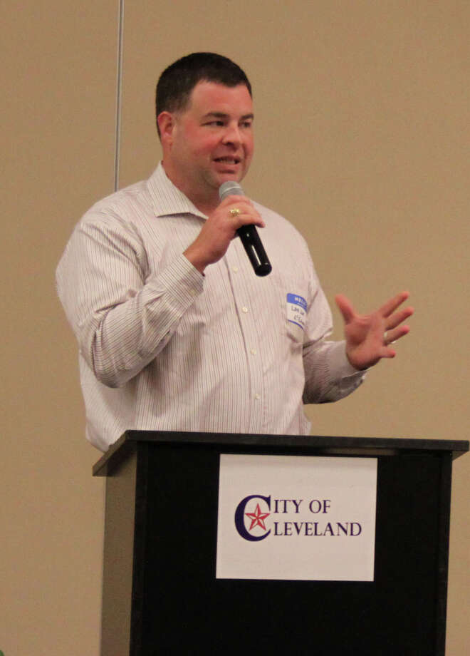 Levi Love of L Squared Engineering discusses two construction projects for the City of Cleveland. Photo: Jacob McAdams