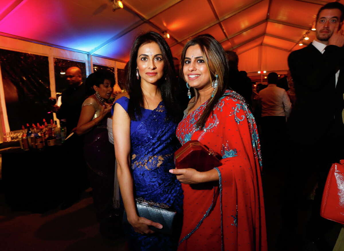 Simran Rihal and Ruchi Mukerjee and guest at the Asia Society's Tiger Ball on Friday, March 3, 2017, in Houston. (Annie Mulligan / Freelance)