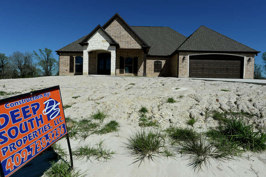 A recently built home for sale in the Colonial Estates subdivision in Bridge City. The neighborhood has experienced recent growth with new homes being built.   Photo taken Friday 3/3/17 Ryan Pelham/The Enterprise Photo: Ryan Pelham / ©2017 The Beaumont Enterprise/Ryan Pelham