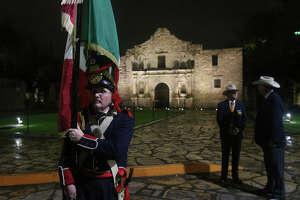 The battle of the Alamo is commemorated Monday March 6, 2017 by Scott Matty (center) at the Alamo. The Battle of the Alamo (February 23 – March 6, 1836) was a pivotal event in the Texas Revolution. Following a 13-day siege, Mexican troops under President General Antonio López de Santa Anna launched an assault on the Alamo Mission near San Antonio de Béxar (modern-day San Antonio), Texas, United States, killing all of the Texian defenders.