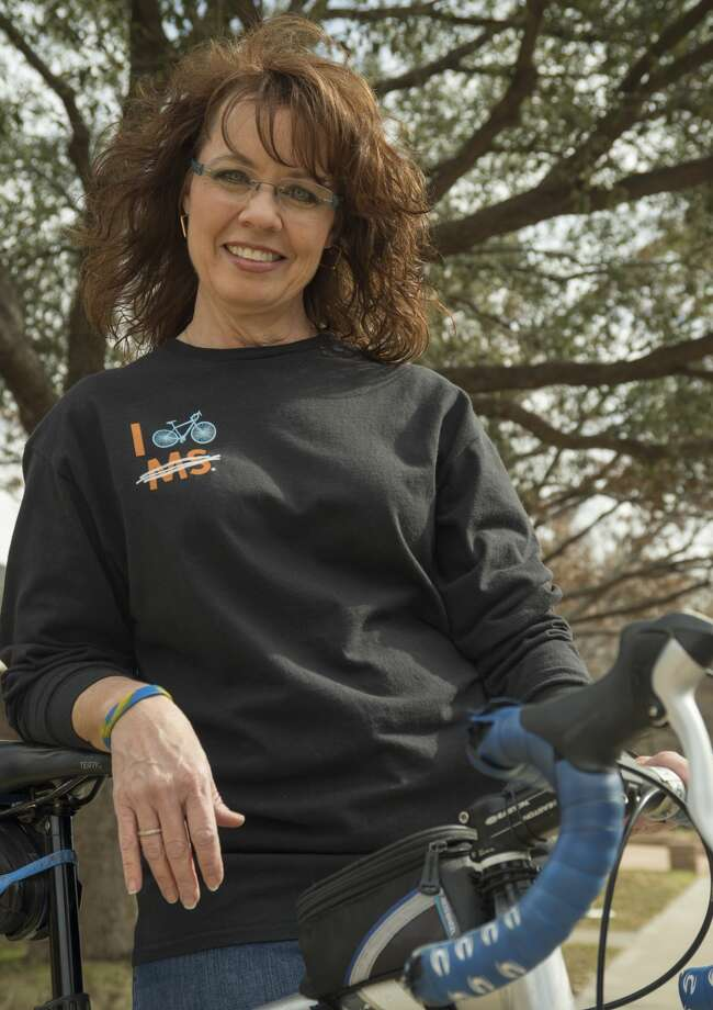 Danette Beals is team leader for a Cactus & Crude MS Society bike ride. Monday 03-06-17 Tim Fischer/Reporter-Telegram Photo: Tim Fischer/Midland Reporter-Telegram