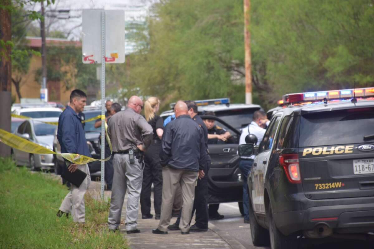 Police responded to the scene of a murder and connected attempted suicide on the Northwest Side Monday, March 6, 2017. The suspect, Armando Garcia-Ramires, was taken to University Hospital to be treated before being booked on two capital murder charges.