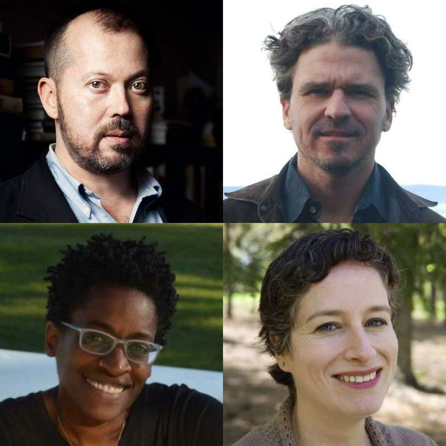 The National Book Award judges include (clockwise, from top left) Alexander Chee, Dave Eggers, Ruth Franklin and Jacqueline Woodson.