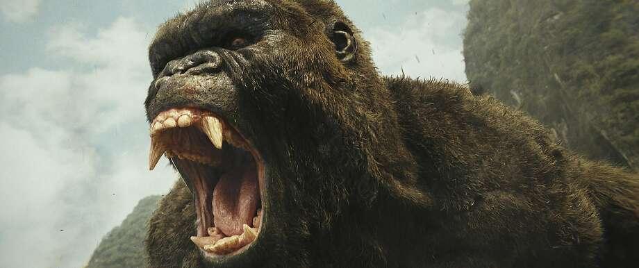 "The titular ape in ""Kong: Skull Island."" Photo: Associated Press"