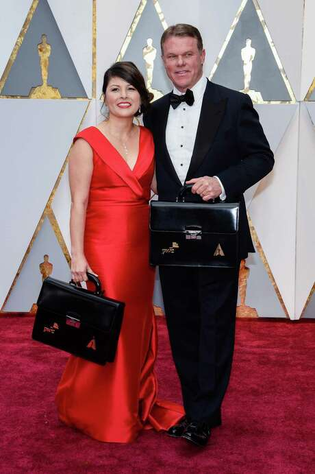 Martha L. Ruiz and Brian Cullinan from PwC hold winners' envelopes on the red carpet during the 89th Academy Awards ceremony. What was originally a highly technical case newsworthy mostly because it involved the former governor of New Jersey has garnered additional interest from the public and media in the wake of the Oscars Best Picture debacle. Photo: Anthony Behar /Sipa USA / Sipa USA