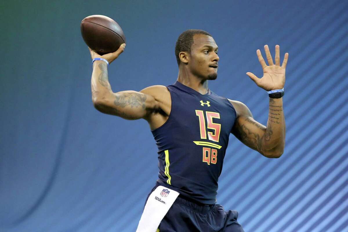 NFL COMBINE WINNER Deshaun Watson, QB, Clemson Watson made a strong case for himself to be the first quarterback taken. He interviewed extremely well with teams, and when teams asked defensive players who was the toughest opponent they faced, many pointed to Watson.