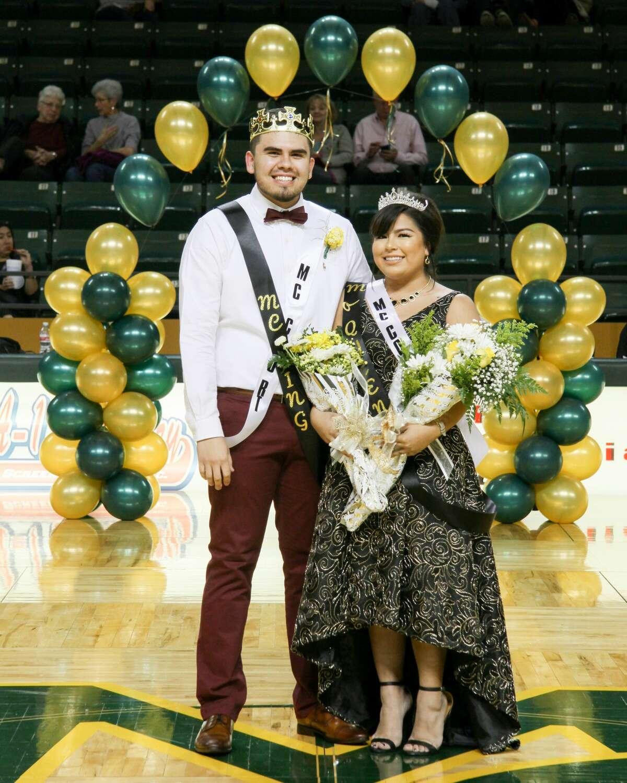 Midlander Becka Lopez and Rudy Alvarado of Lamesa were crowned Midland College queen and king.