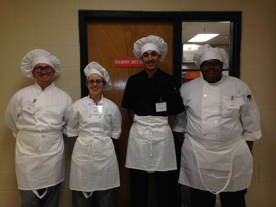 The Midland High School Culinary Arts team advanced to the state contest after competing at the District 2 Skills USA leadership and skills competition last month. Photo:   Courtesy Photo