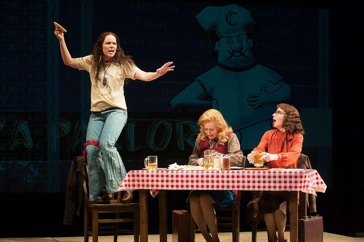 From left: (Sara Bruner), Sarah Weddington (Sarah Jane Agnew) and Linda Coffee (Susan Lynskey) in Berkeley Rep�s �Roe.�