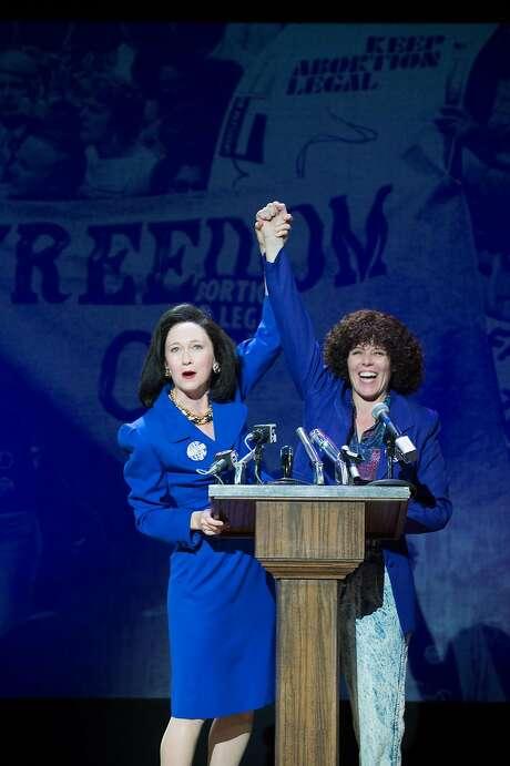 "Gloria Allred (Amy Newman, left) and Norma McCorvey (Sara Bruner) in Berkeley Rep's ""Roe."" Photo: Jenny Graham, Berkeley Repertory Theatre"