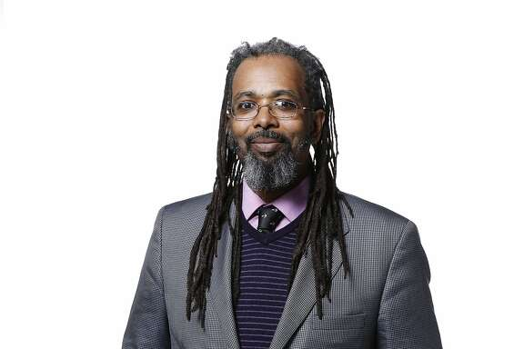 Marijuana etiquette columnist Ngaio Bealum is seen on Monday, March 6, 2017 in San Francisco, Calif.