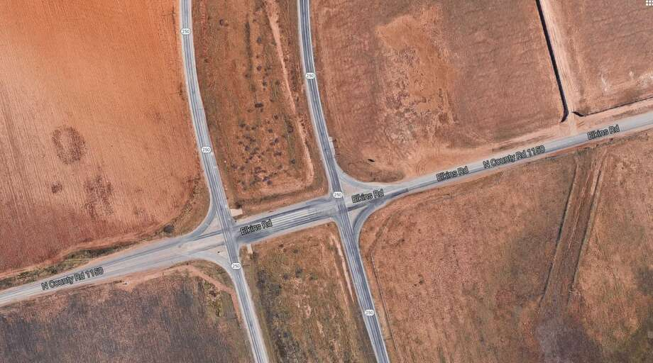 The MDC will pledge $2 million for the completion of a curvilinear overpass at Loop 250 and county roads 1150 and 60, a complicated project slated to cost $21.5 million.  Photo: Google Maps