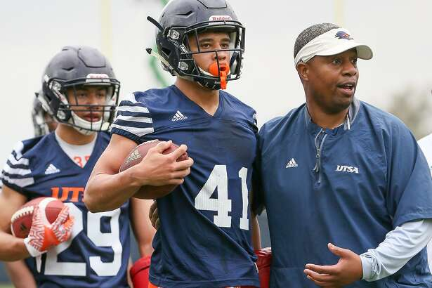 UTSA cornerback Austin Jupe (41) during the opening day of spring practice on Monday, March 6, 2017.  MARVIN PFEIFFER/ mpfeiffer@express-news.net
