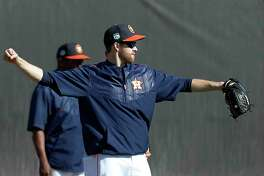 Houston Astros starting pitcher Collin McHugh (31) during spring training at The Ballpark of the Palm Beaches, in West Palm Beach, Florida, Monday, February 20, 2017. ( Karen Warren / Houston Chronicle )