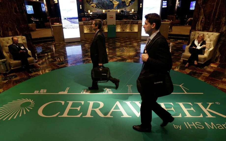 CERAWeek by IHS Markit is being held downtown. Energy executives on Monday spoke of their hopes for fewer regulatory and environmental delays under the Trump administration. Photo: Melissa Phillip, Staff / © 2017 Houston Chronicle