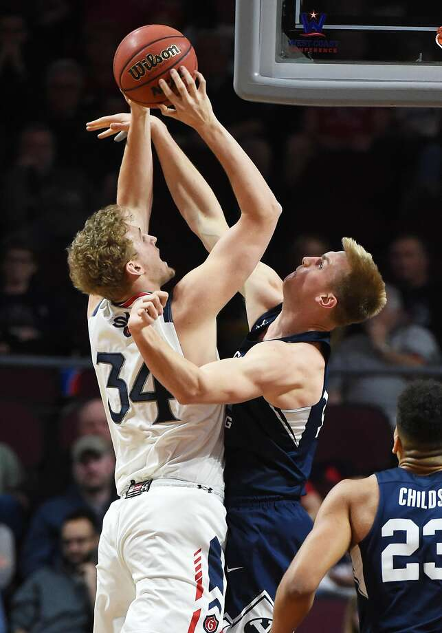 St. Mary's center Jock Landale had 22 points and 10 rebounds. He made 8 of 12 field goal tries against BYU. Photo: Ethan Miller, Getty Images