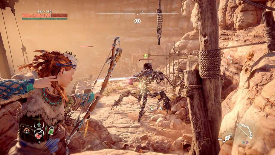 """""""Horizon Zero Dawn"""" is an open-world RPG that fuses the allure of primitivism with that of futuristic technology. Photo: Sony Interactive Entertainment"""