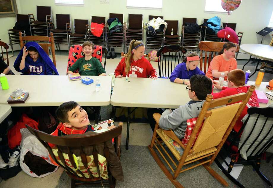 Kids at the First United Church of Christ took part in the 24 hour Rocking For Recess fundraiser at the church in Milford, Conn. on Saturday Feb. 13, 2016. Kids in the group started rocking in their chairs at 11 a.m. on Saturday and continued throughout the night until 11 a.m. on Sunday. Money raised was donated to purchase recess equipment for Beardsley School in Bridgeport. This year's annual Mayor's Youth Award ceremony will take place on Thursday, May 4, 2017 Photo: Christian Abraham / Hearst Connecticut Media / Connecticut Post