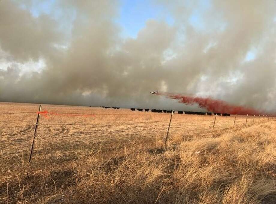 Photo from the Amarillo Fire Department on the scene.  Taken near roads 136 & 245.  Photo: Amarillo Fire Department