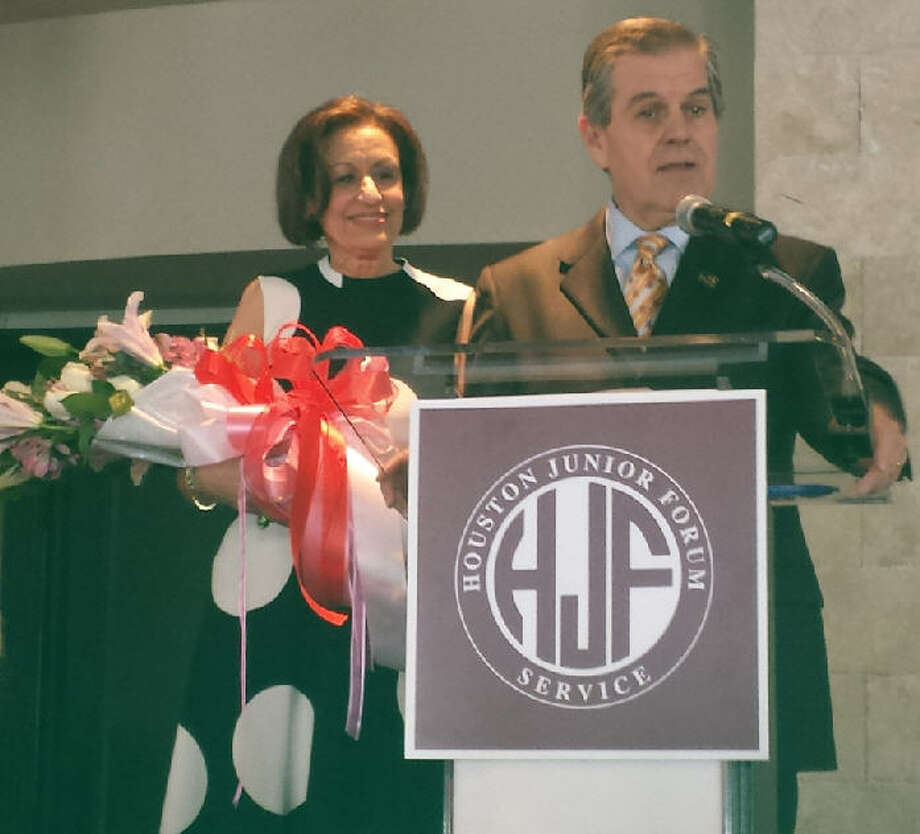 Zachary Hodges, Houston Community College - Northwest president, and his wife, Anna, an award-winning teacher of 27 years,recently were honored by the Houston Junior Forum. Photo: Houston Junior Forum