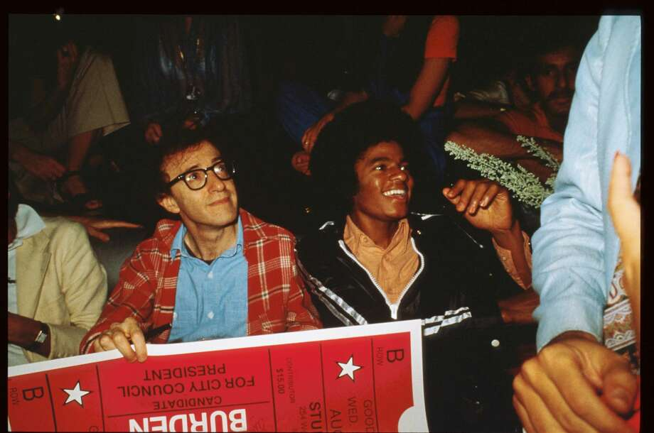 PHOTOS: How the pretty people partied at Studio 54   Woody Allen and Michael Jackson sit together at Studio 54 April, 1977 in New York City. Studio 54 was an icon of the disco era boasting famous celebrities and the best DJs until it's closing.   Click through to see the stars getting down in New York...  Photo:  Russell Turiak/Liaison