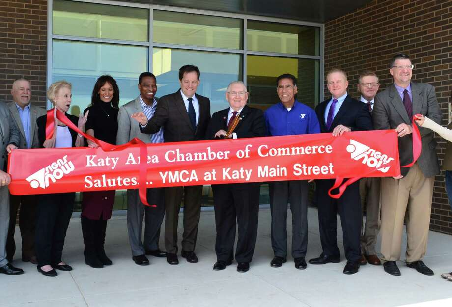 Community and city officials welcome YMCA at Katy Main Street. Photo: YMCA Of Greater Houston