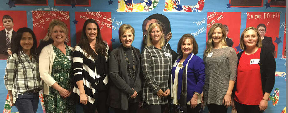 Pattison Elementary Parent Teacher Associations was awarded the 2015/2016 Voice for Every Child Award. From left are: Zophia Winkle, Jeannie Griffith, Allisyn Decatur, Debbie Barker, Susan Dyson, Lisa Holbrook, Stacy Lombardi and Erin Silkenson. Photo: Pattison Elementary