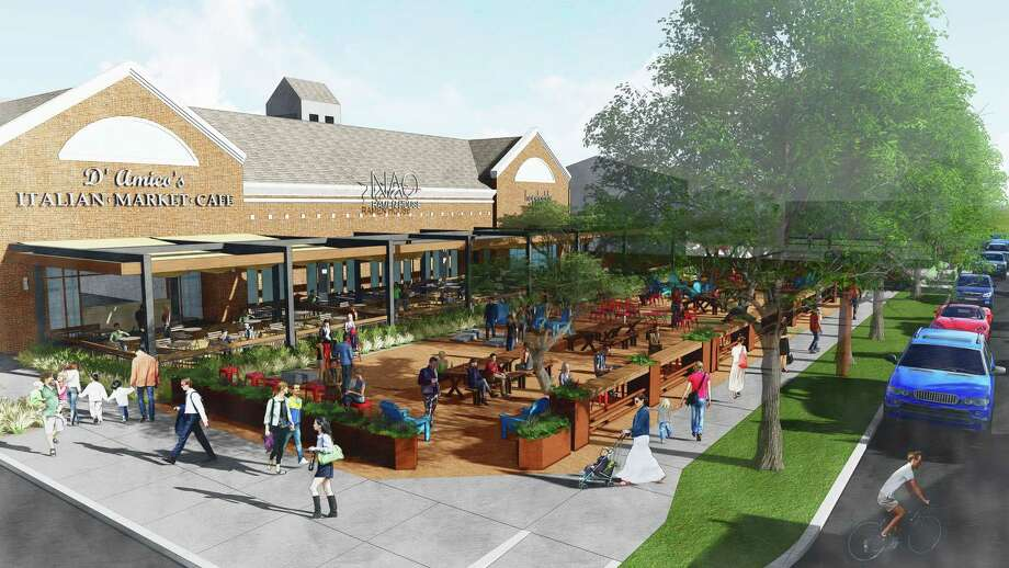 Rice Village's Morningside Plaza is expected to be completed by early March in time for the opening of Hopdoddy Burger Bar. Photo: Trademark Property Co., Kaplan Public Relations